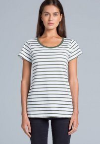 Loop stripe tee